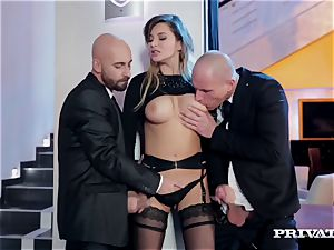 puffy jug Anna Polina Gets Some tough double penetration
