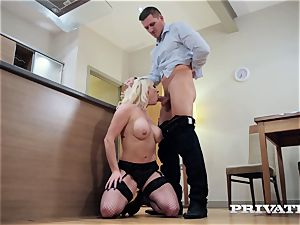 Private.com buxomy Victoria Summers smashes in pantyhose