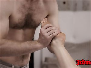 impressive Kimber chisel fondled before passionate pummeling