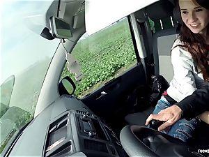 LETSDOEIT - crazy teenage pummels The Mature Uber Driver