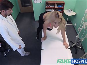 FakeHospital buxomy Russian stunner swallows cumload