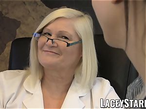 LACEYSTARR - GILF heals patient with girl/girl orgasm