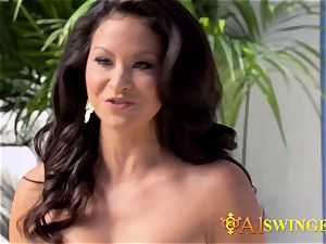 Hannah and JJ engage in hookup before heading out to meet other crazy swingers
