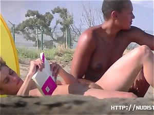 naturist beach movie of spectacular taut babes