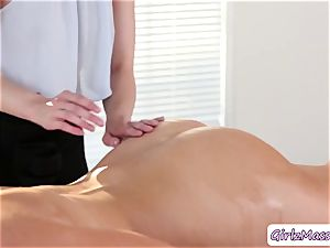 scorching Brett Rossi gets her booty pummeled by her classmate in law schools