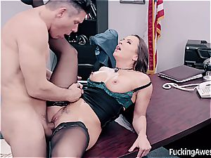 beating secretary helps her manager sploog
