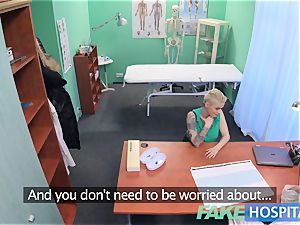 fake health center Flirty tatted minx requests quick fuck-a-thon