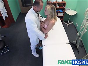 FakeHospital adorable blondie patient gets cooter check-up